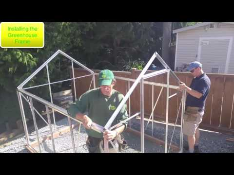 Installing A Halls Popular 86 Greenhouse