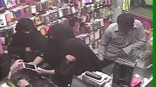 Robbery in Jeddah Mobile Shop (CCTV)