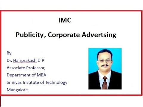 Publicity, Corporate Advertising