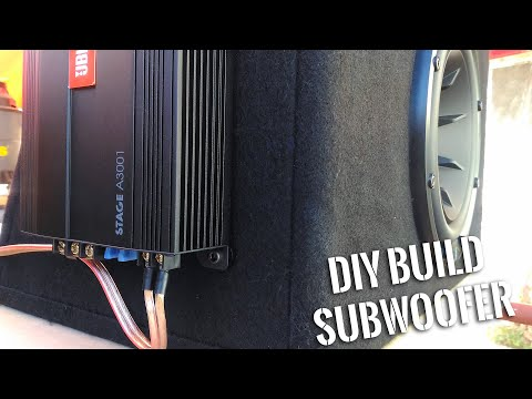 How to Make Box Mounted Amp Subwoofer - DIY BUILD