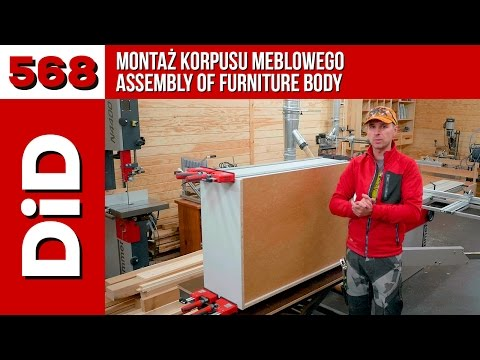 568. Montaż korpusu meblowego / Assembly of furniture body