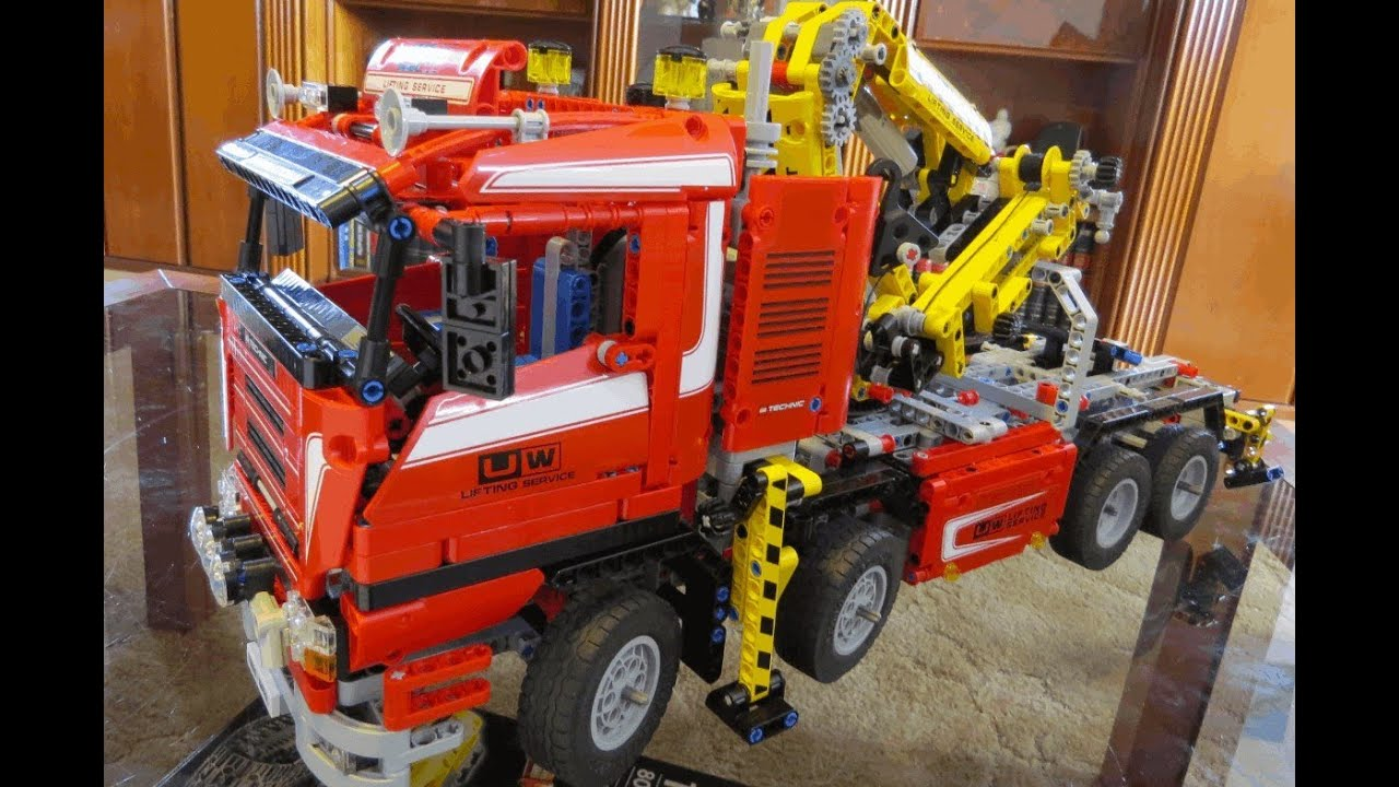 lego technic 8258 truck mit power schwenkkran youtube. Black Bedroom Furniture Sets. Home Design Ideas