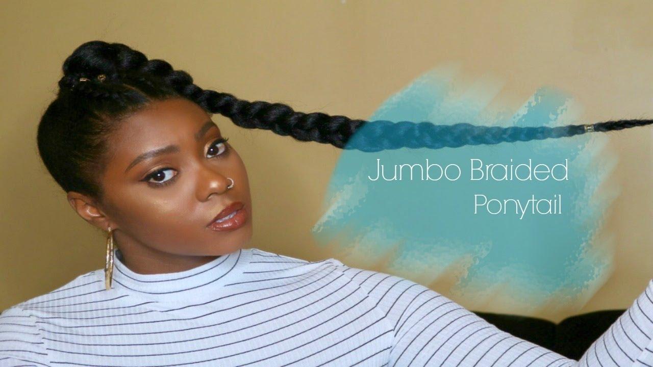 jumbo braid ponytail quick nye
