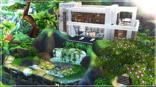Waterfall Mansion | Amazing build | NoCC | The Sims 4: Island Living | Speed Build (Stop Motion)