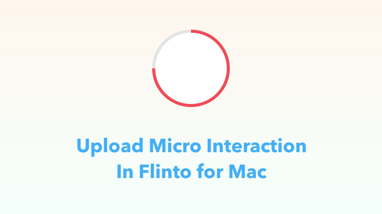 Loading Button Micro Interaction in Flinto for Mac