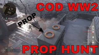COD WW2 PROP HUNT BEST SPOTS AND FAILS W/ KYDOZA AND BLACKHATSAM