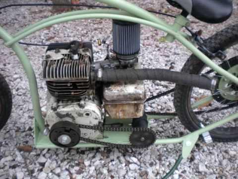 homemade briggs mini bike - YouTube