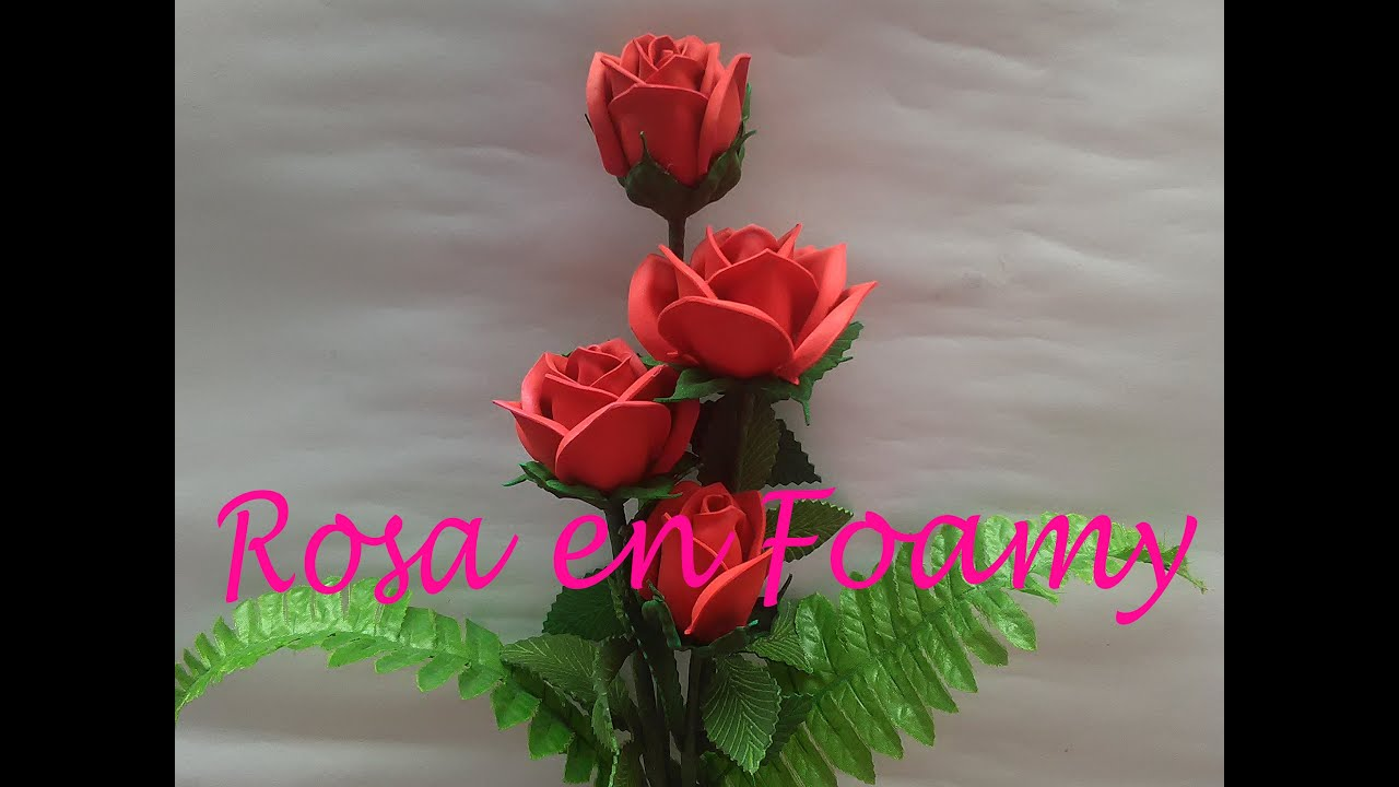 How To Make Rose In Foami
