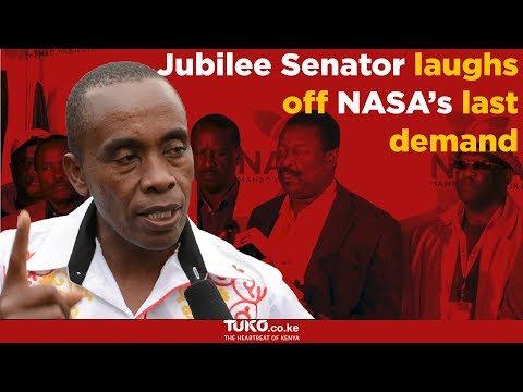 Jubilee Senator laughs off NASA's last demand