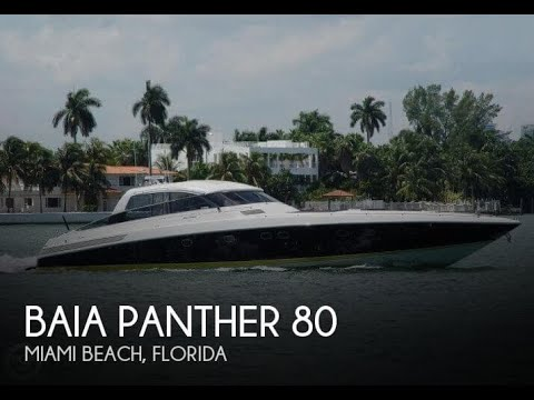 Used 1999 Baia Panther 80 for sale in Miami Beach, Florida
