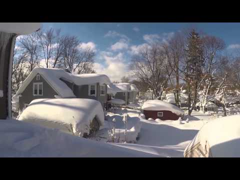 Hamburg Buffalo snowstorm: How to Remove 6' lake effect snow from Your Roof  Pt 2