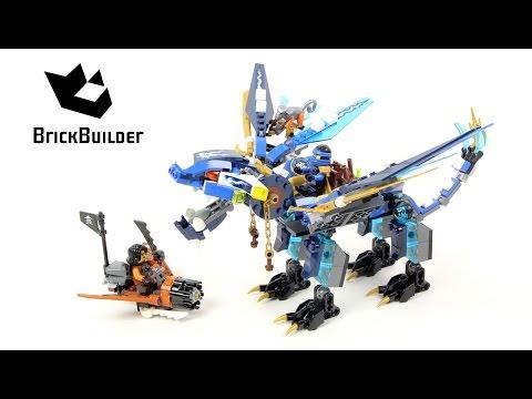 Lego Ninjago 70602 Jay's Elemental Dragon - Lego Speed build