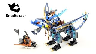 Lego Ninjago 70602 Jay's Elemental Dragon - Lego Speed build