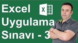 Excel Uygulama Sınavı 3. Soru - 290.video   Ömer BAĞCI