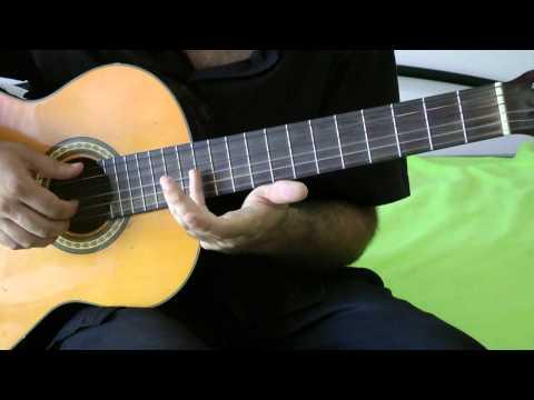 урок на гитаре - металика - Metallica - самый простой вариант очень красивая мелодия