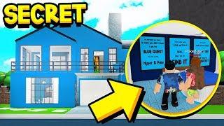 WE FOUND BLUE GUEST'S *SECRET* BLOXBURG HOUSE!! (Roblox Bloxburg)