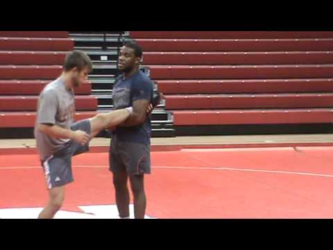 Nebraska Wrestling Coaches Clinic 2013 14 Jordan Burroughs technique 7  sweep single