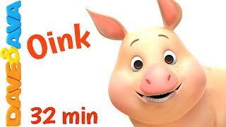 🐷 Farm Animals and Animals Sounds for Children and Toddlers | Nursery Rhymes from Dave and Ava 🐷