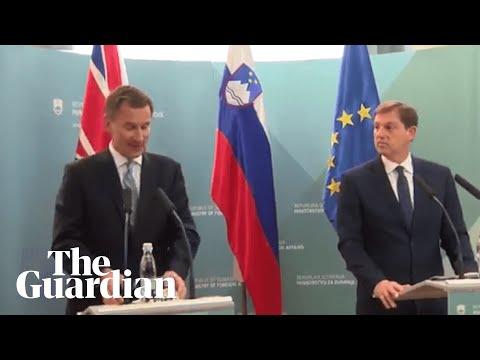'Soviet vassal state': Jeremy Hunt makes gaffe in Slovenia