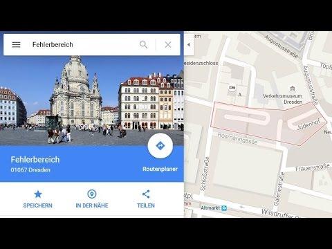 """Google Maps Bug - Stadtteil """"Fehlerbereich"""" in Dresden"""