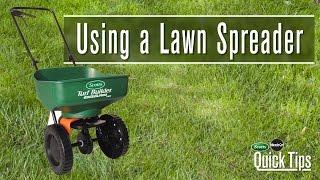 Using Lawn Spreader
