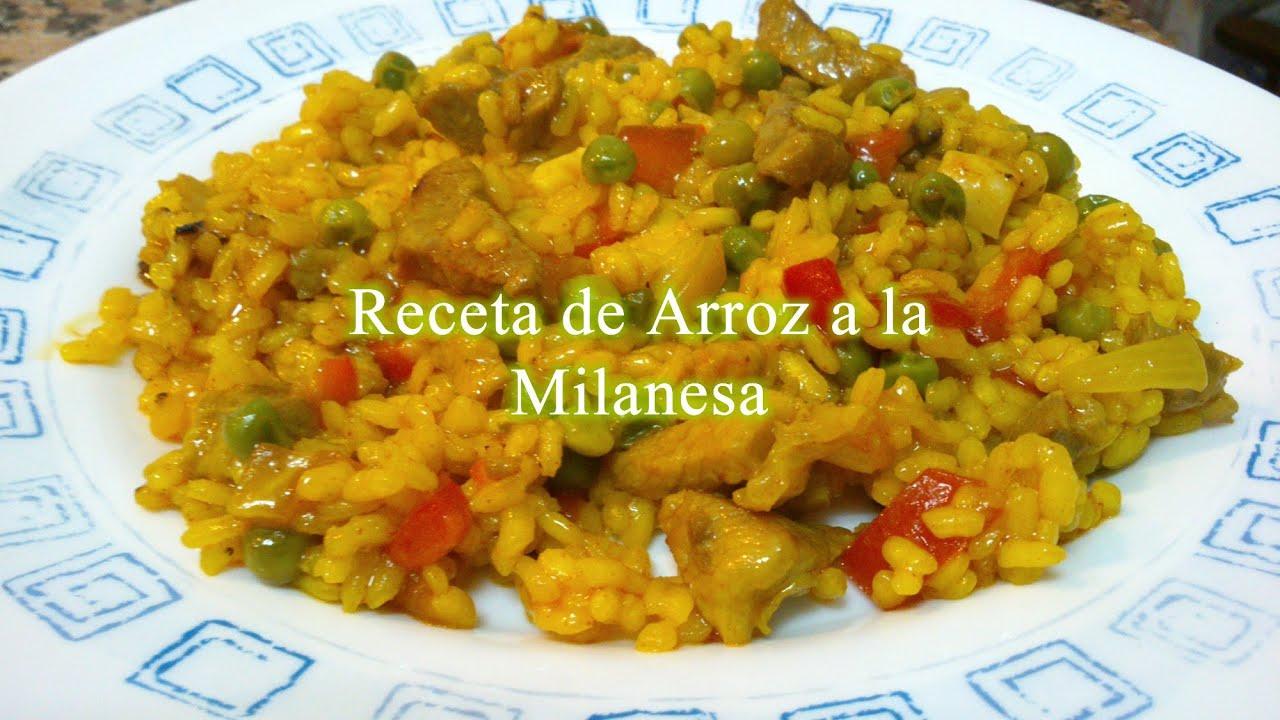 Arroz a la milanesa receta f cil youtube for Cocinar 2 tazas de arroz