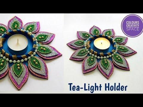 Candle holder for Diwali/Diy Tealight Candle Holder| diy candle stand | diwali decoration ideas