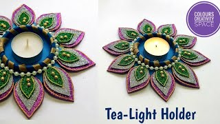 Candle holder for Diwali/Diy Tealight Candle Holder| diy candle stand | diwali decoration ideas
