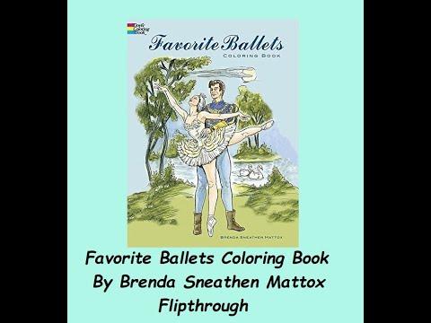 Favorite Ballets Colouring Book By Brenda Sneathen Mattox Flip