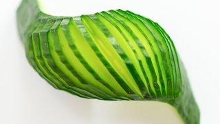 Cucumber Wave Garnish Tutorial