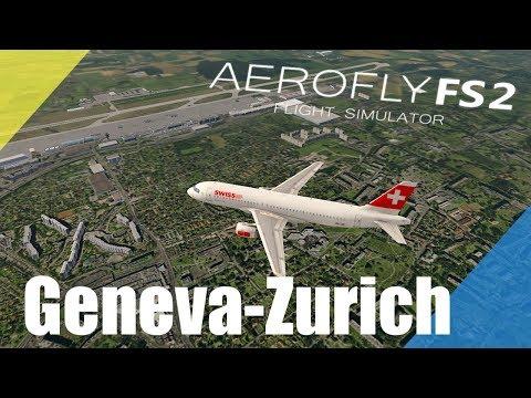 Aerofly FS 2 Geneva - Zurich (mobile) Timelapse