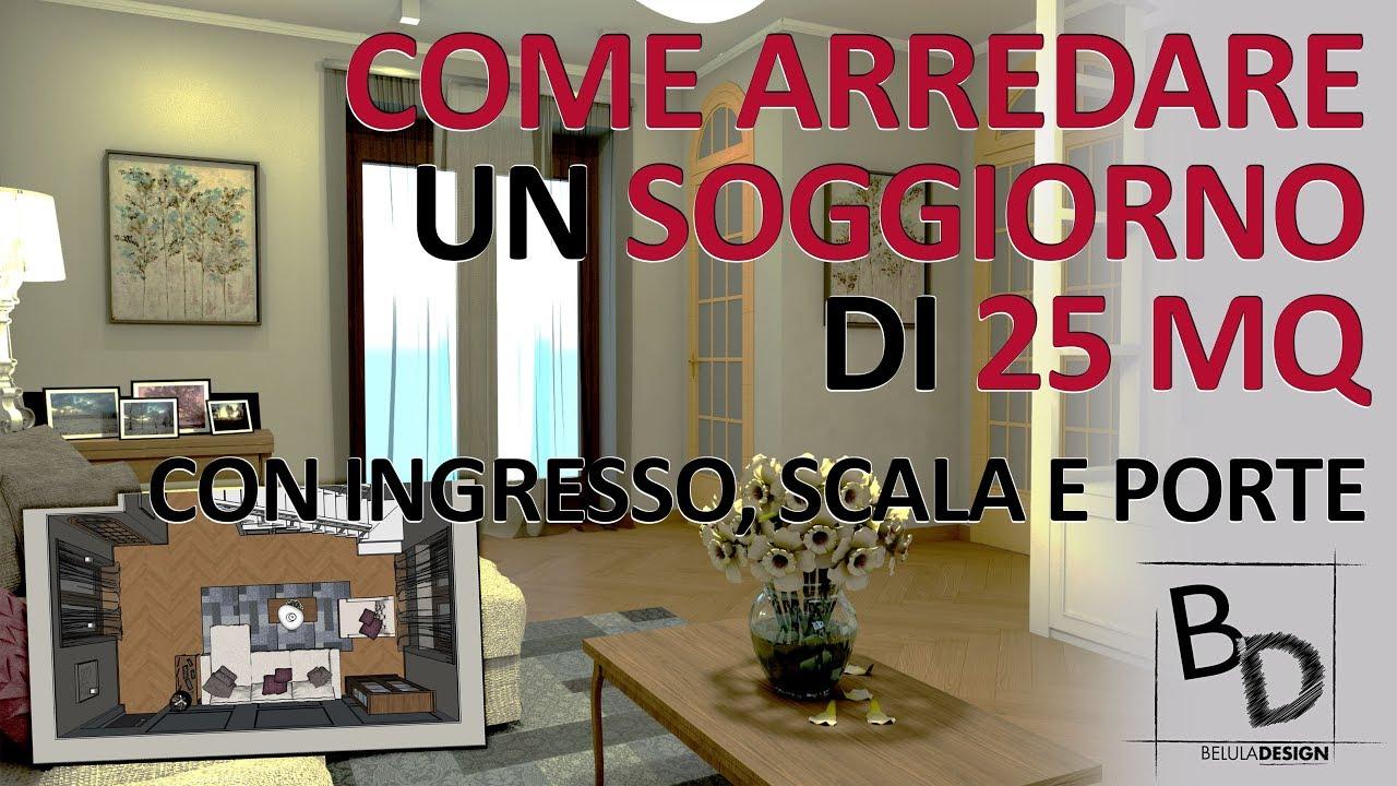 Sala Cucina 25 Mq come arredare un soggiorno di 25 mq con ingresso, scala e porte | belula  design