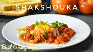 Shakshouka - Eggs Poached in Spicy Tomato Sauce (Middle East Cuisine)