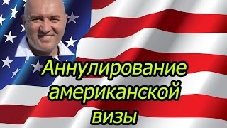 Виза в США #2 | Аннулирование американской туристической визы B1/B2