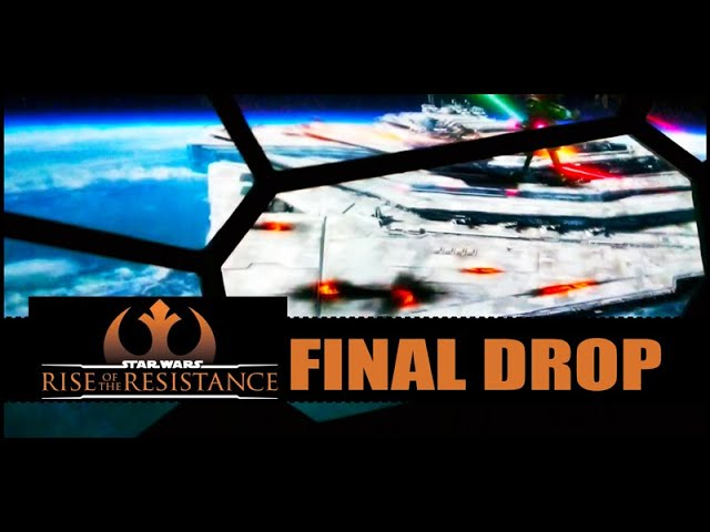 Rise of the Resistance Final Drop Ride Sequence Ending