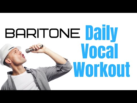 Baritone Daily Vocal Workout - 10 Exercises For High Baritones