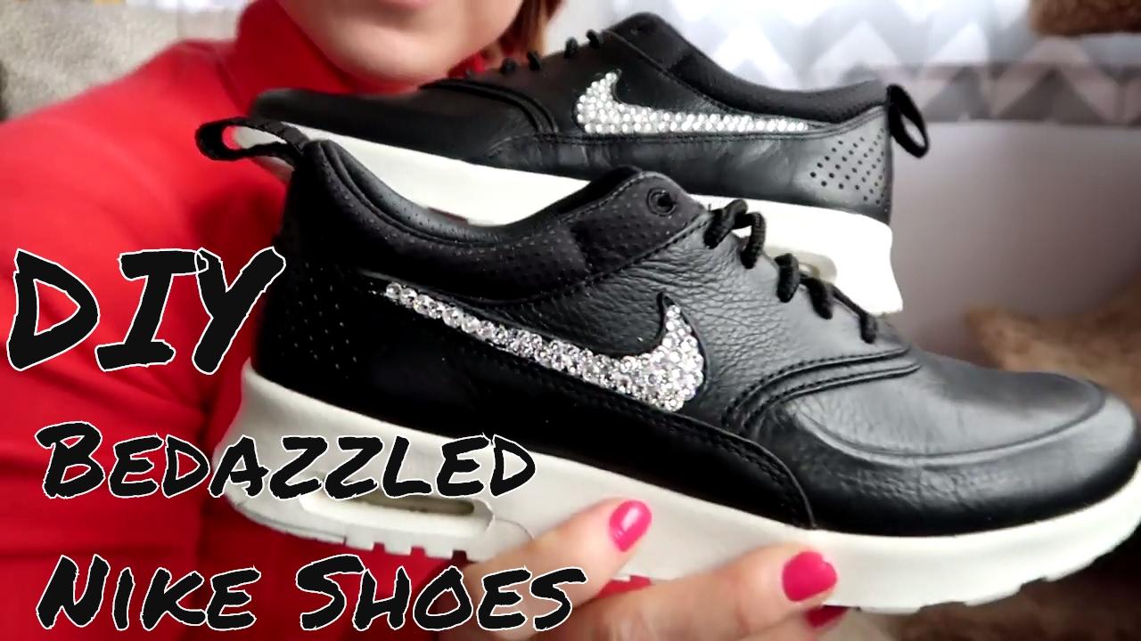 premium selection ad002 97ae1 DIY Nike Shoe Bedazzle Tutorial