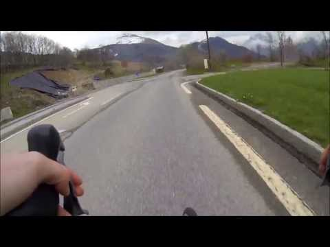 Descending l'Alpe d'Huez with GOPRO 1080 HD