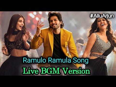 #ramulo-ramula-song-live-bgm-version-||-allu-arjun-||-pooja-hegde