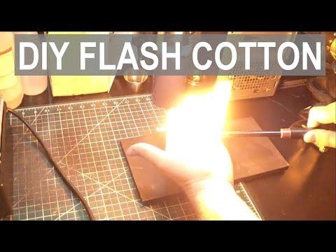 Making Flash Cotton / Paper - Magic Trick Fireball (Nitrocellulose) - ElementalMaker