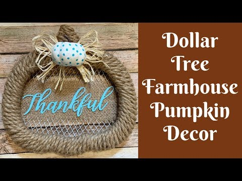 Dollar Tree Fall Crafts: Dollar Tree Farmhouse Pumpkin Decor