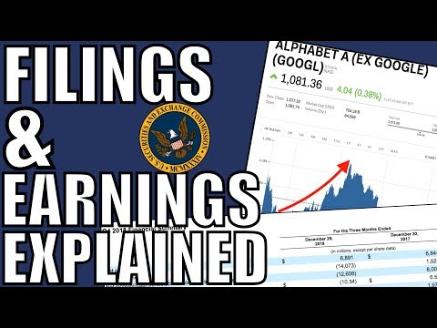 How To Read Filings & Earnings Reports – Analyzing A Stock - Fundamental Analysis For Beginners