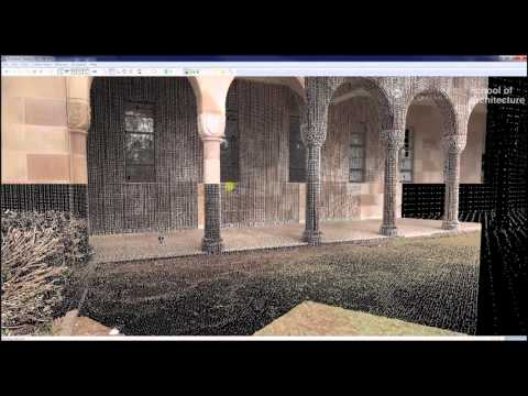 3D Laser Scanning - Leica Cyclone P1 Interface and Targets