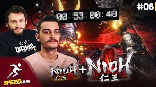 Hugo et Laink commentent la run gagnante Nioh 2 + Any% Nioh 1 | SpeedRun à la maison #08