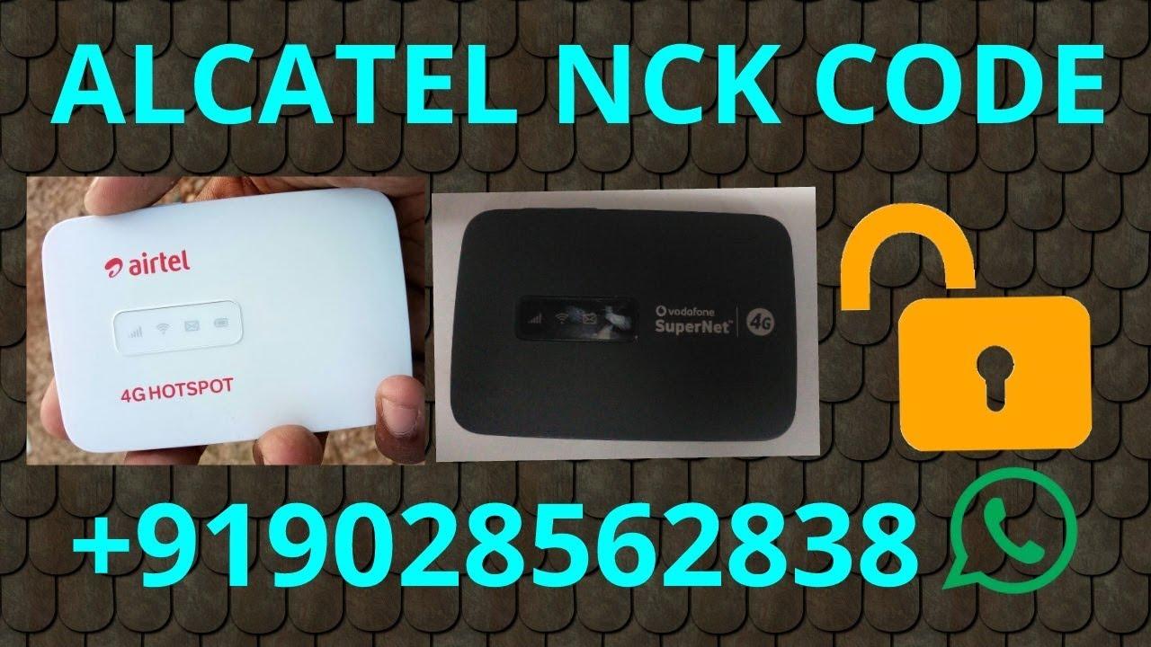NCK Code for Alcatel MW40CJ 4G LTE Smart Wifi Hub