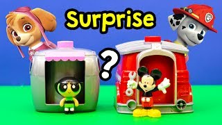 PAW PATROL + MOANA + TANGLED + PJ MASKS Paw Patrol Pup Changer Color Surprise