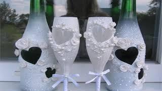свадебные бокалы своими руками фото мастер класс