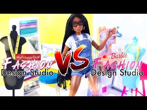 VERSUS: Barbie Fashion Design Studio VS DIY Fashion Design Studio