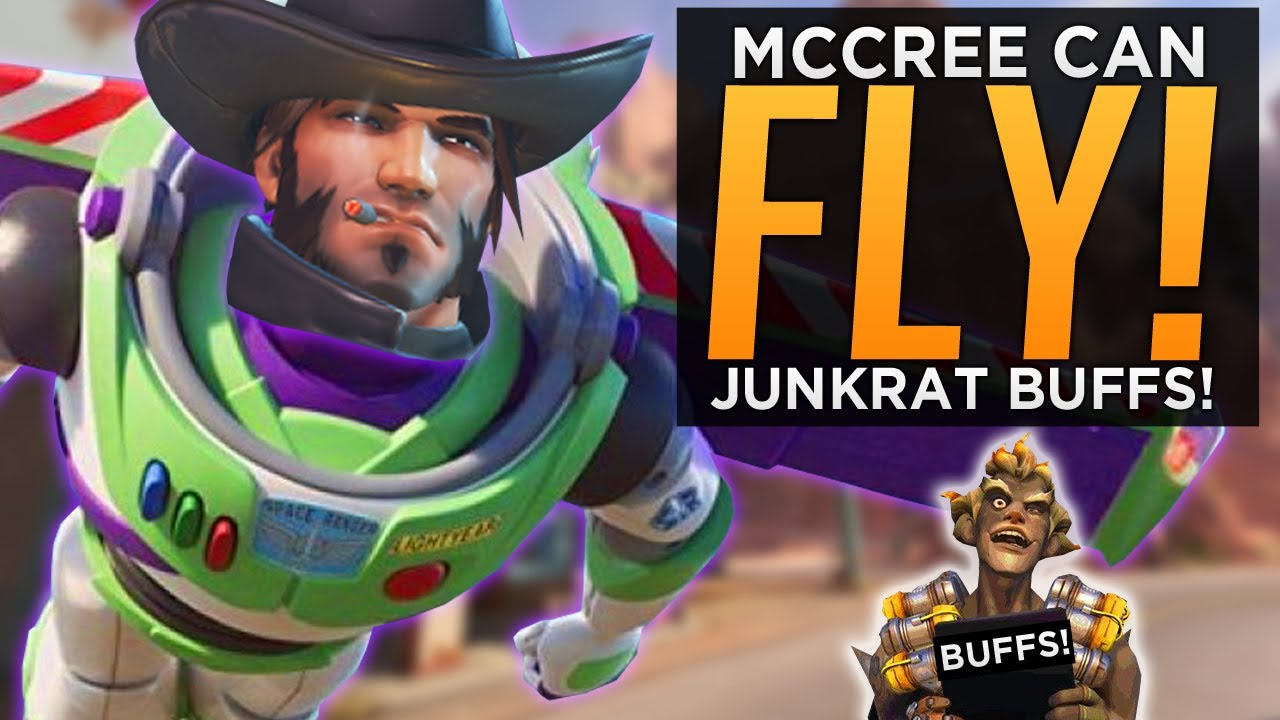 McCree Can Fly! & Junkrat BUFFED! - NEW Overwatch Experimental Patch