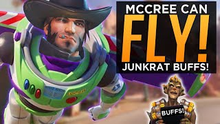 McCree Can Fly  Junkrat BUFFED - NEW Overwatch Experimental Patch